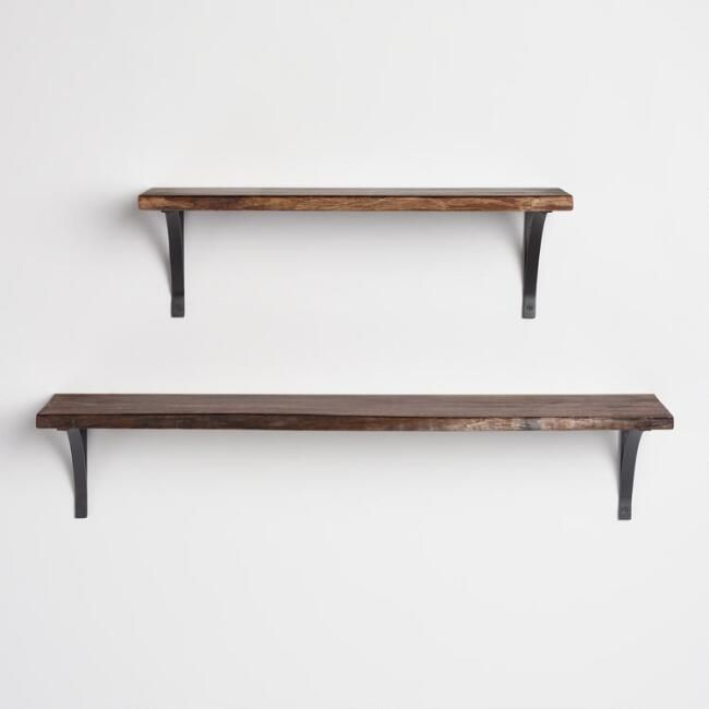 Organic Edge Wood Mix Match Wall Shelf Collection Mix Match Adorable Outdoor Floating Shelves