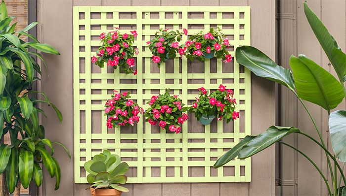 Hanging flowerpot holder made from lath. | Projects to Try ...