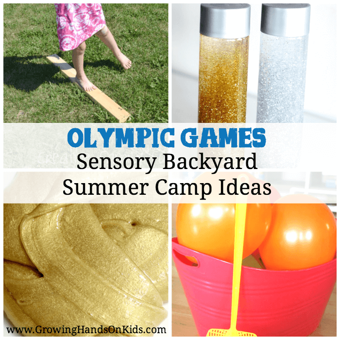 The Summer Olympic Games are this year and what better way to celebrate the Games at home than with a Sensory Olympic Games Backyard Summer Camp!