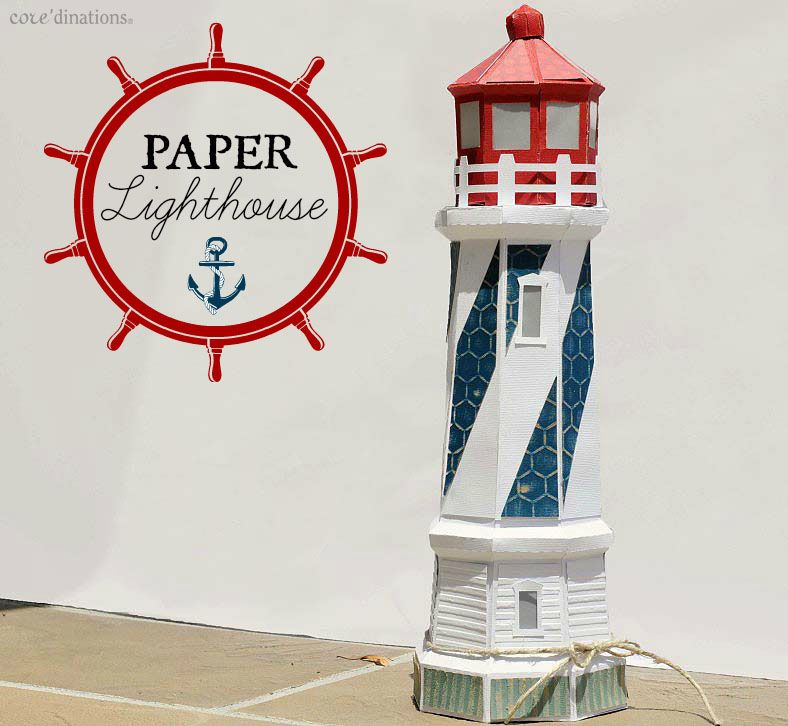 Whimsical Lighthouse : Core'dinations ColorCore Cardstock® | Scrapbook Cardstock Paper, Projects, Tips, Techniques and More!