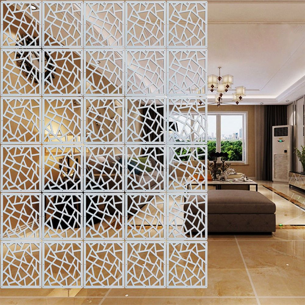 Plastic Divider Screen White Hollow Floral Wall Hanging Screens Room Partition Living Room Divider Room Divider Curtain Hanging Room Dividers #screens #for #living #room