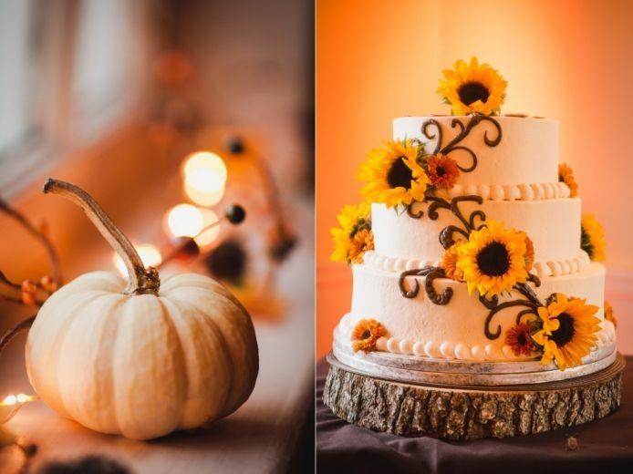 Fall Wedding Cake Love The Sunflowers Www Serena Star