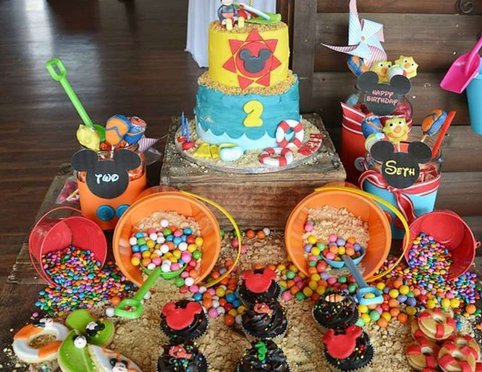 Mickey Mouse Beach Party Supplies Barbie Birthday Cake Baby