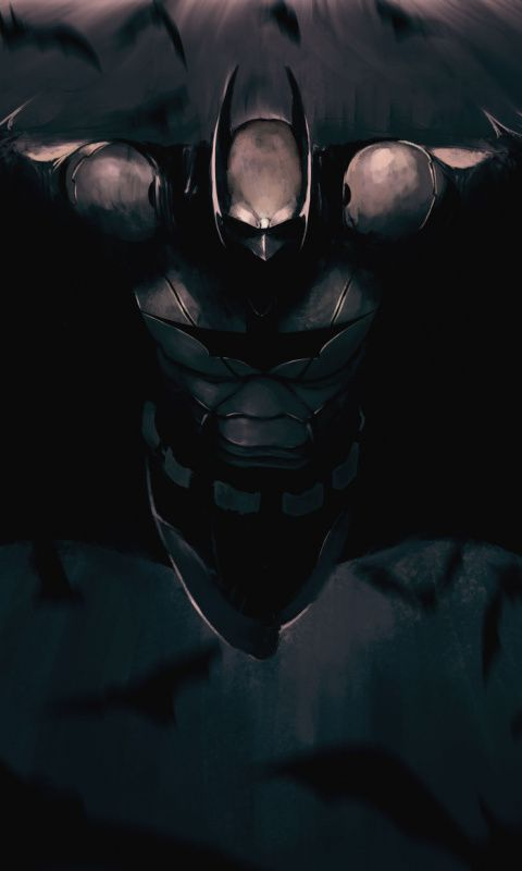 480x800 Wallpaper The Dark Knight Batman Superhero Art