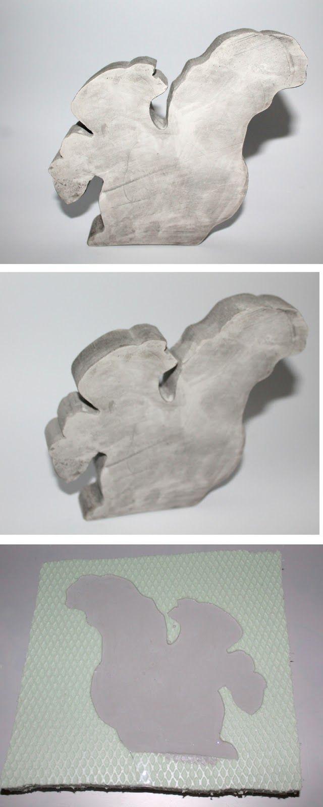 diy gips / beton eichhörnchen selber machen mit selbstgemachter