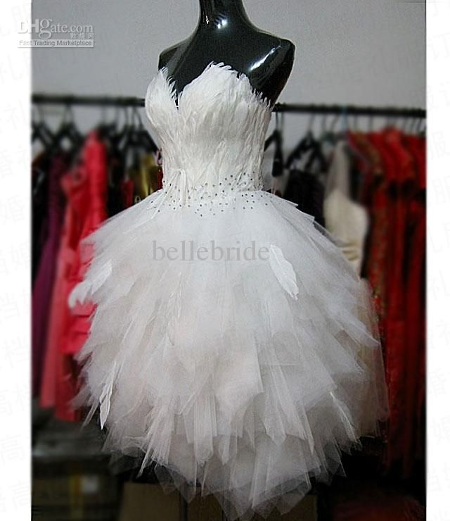 Funky Wedding Gowns: Feathers? For Something Funky! Hmm.