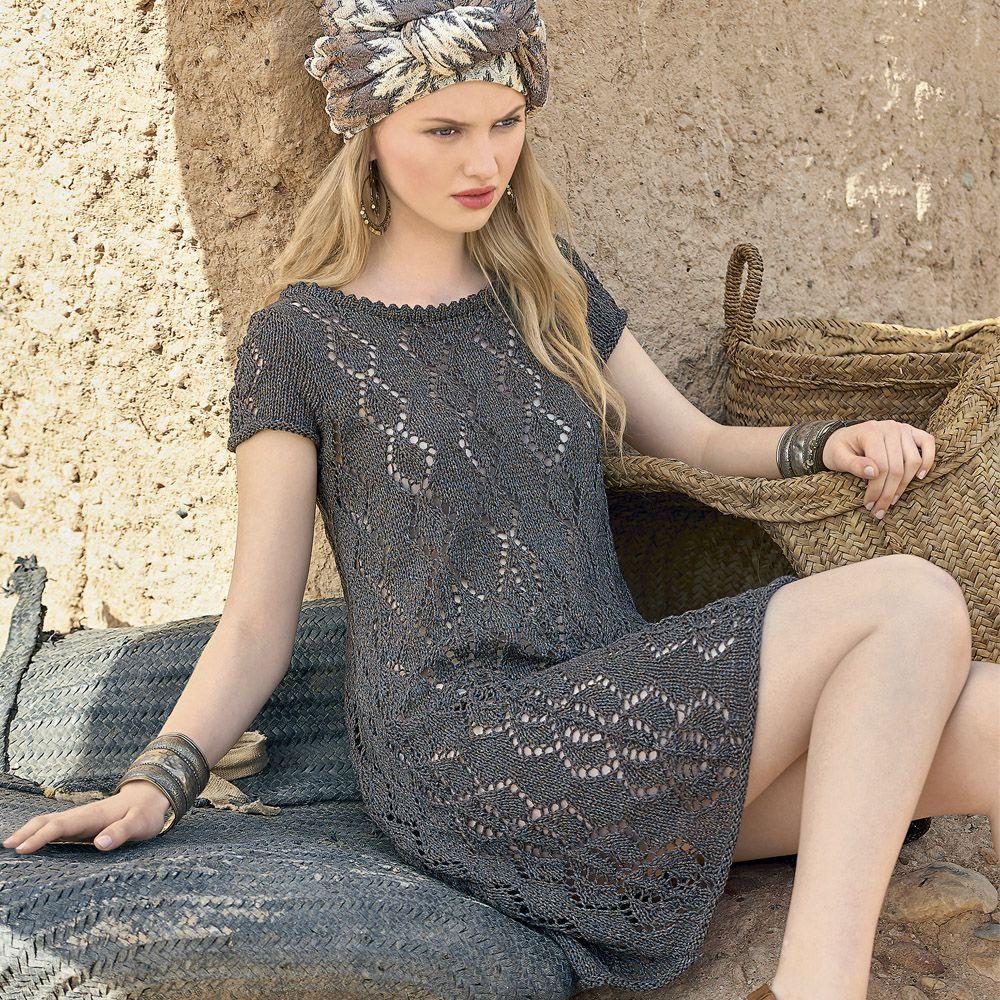 платье -туника спицами схема и описаие