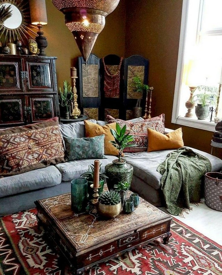 80 Awesome Bohemian Living Room Decor Ideas images
