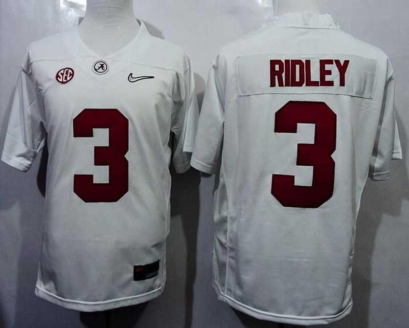 Men's Alabama Crimson Tide #3 Calvin Ridley White 2016 Playoff ...