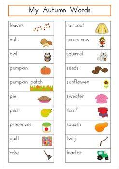 autumn fall word wall homeschooling pinterest words fall