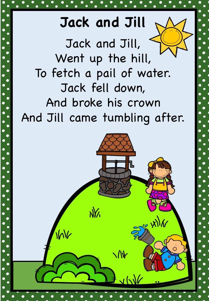 Jack And Jill Nursery Rhyme Pack Aus Uk