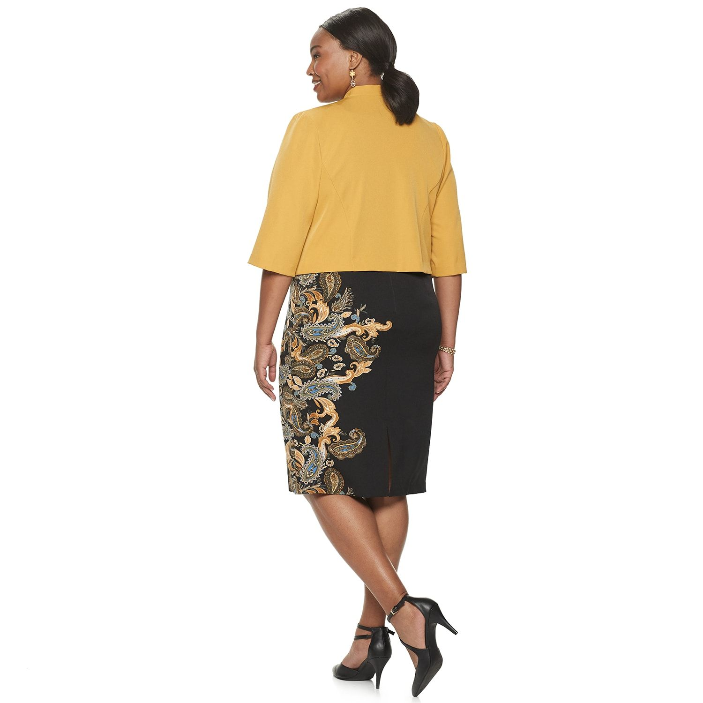Side Print Jacket Dress