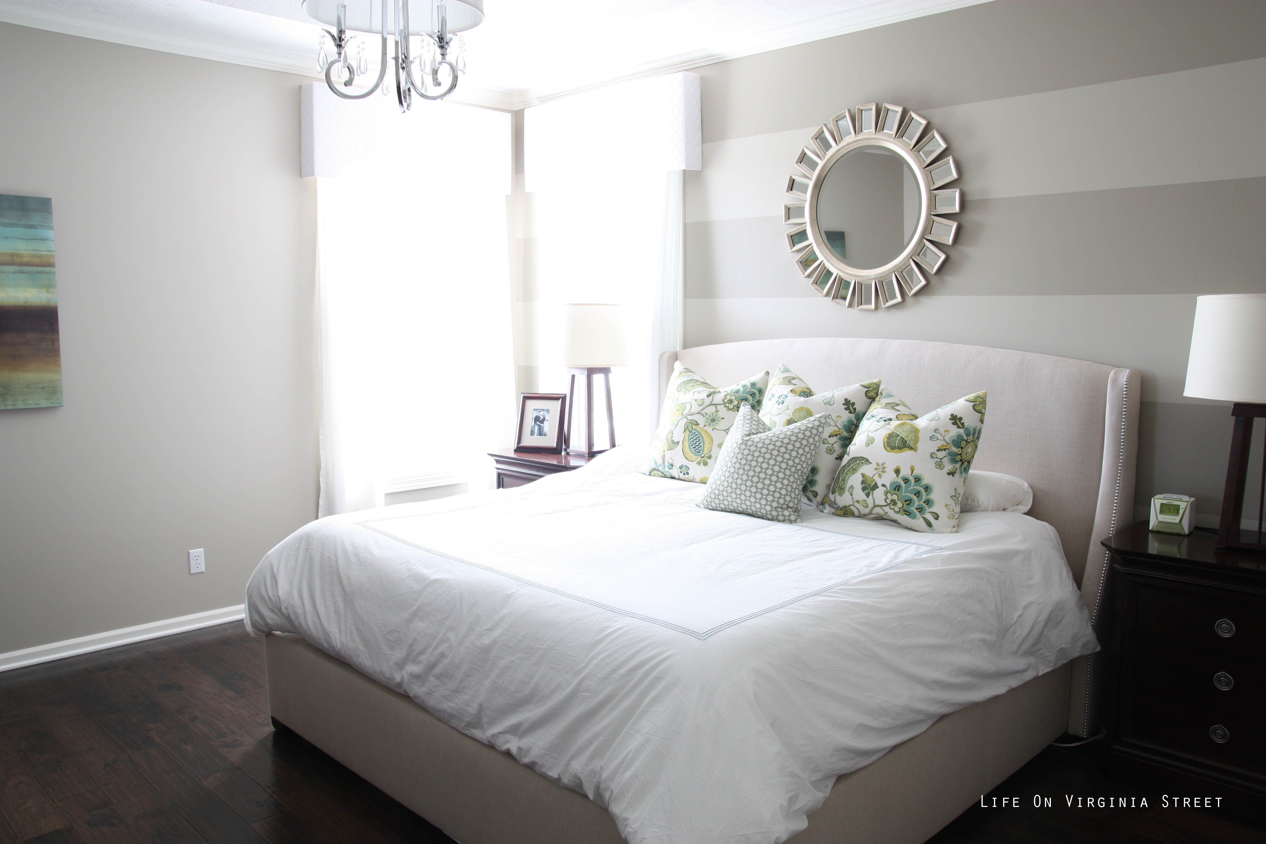 Wall Stripes For Spare Bedroom Color Paint Gray