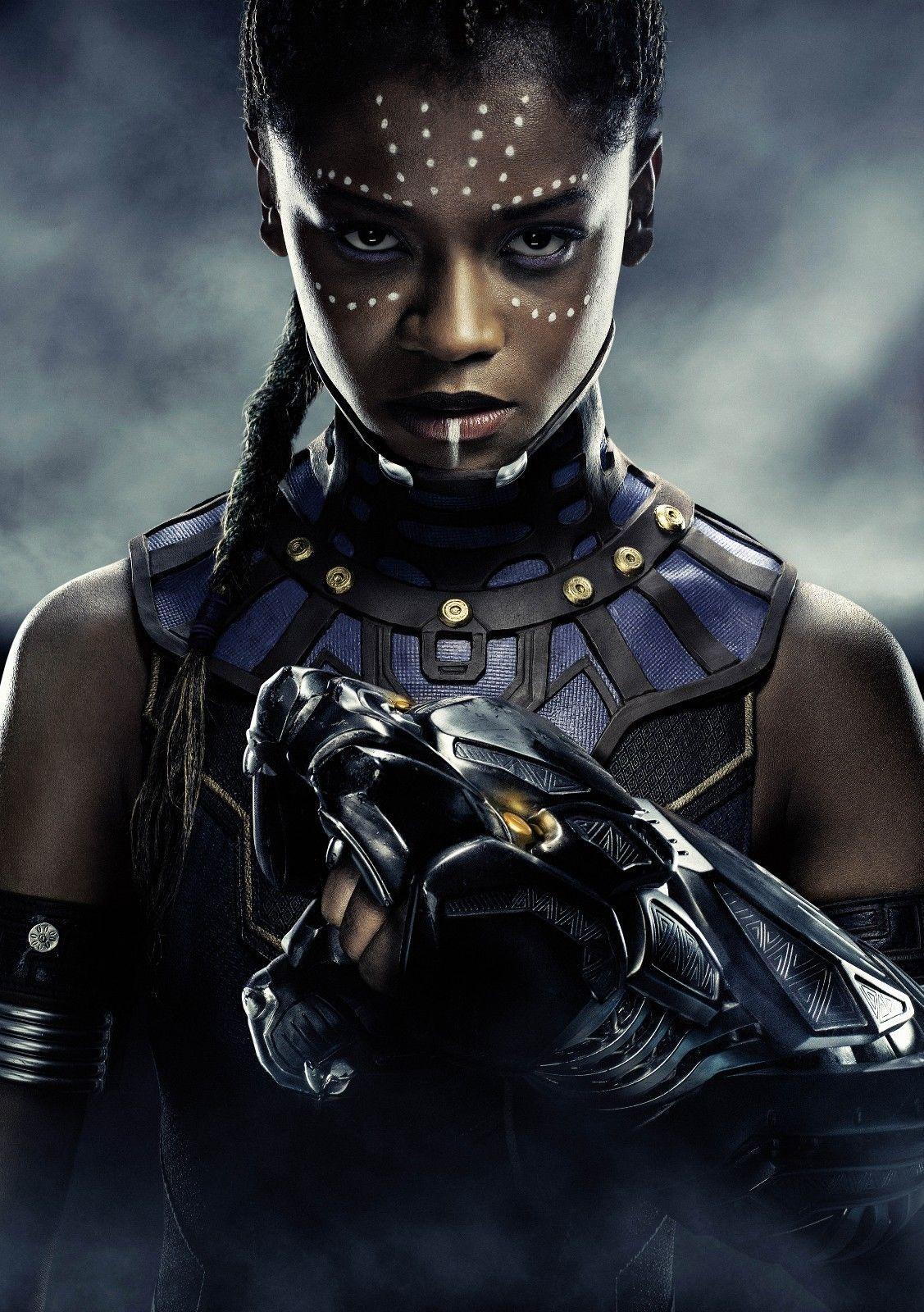 Black Panther Movie Lupita Nyong/'o as Nakia HQ Textless Poster 21×14 27×40 48×32