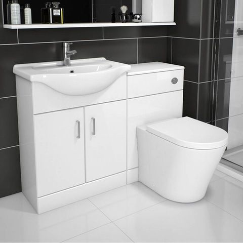 Sienna White Combination Unit With Arte Back To Wall Toilet 1140mm Bathroom Layout Small Bathroom Bathroom Inspiration
