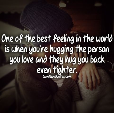 Couple Hugging Tightly Quotes For Feelings Cute Love Quote Sweet