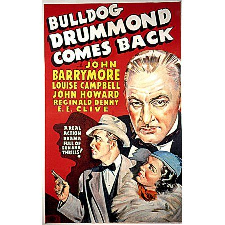 Bulldog Drummond Comes Back Canvas Art - (24 x 36)