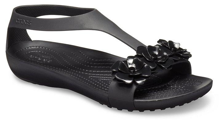 Women S Crocs Serena Embellished Sandal T Strap Sandals Embellished Sandals Womens Sandals