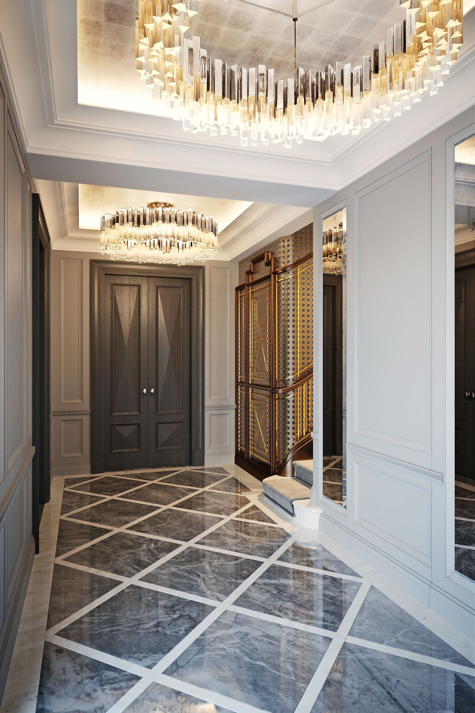 Entrance Hall, Villa La Vague   Morpheus London #inspirations  #designinspiration #moderninteriordesign Decorate