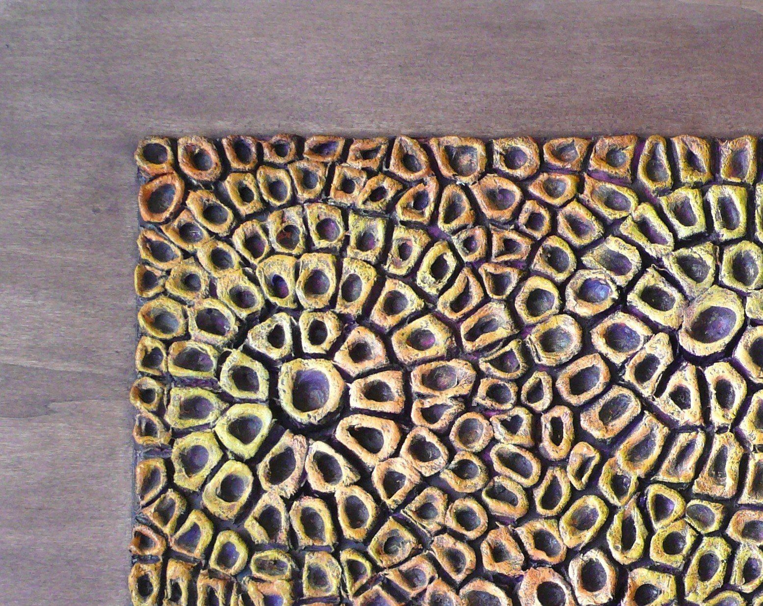 Wall sculpture wood wall panel textured abstract painting d