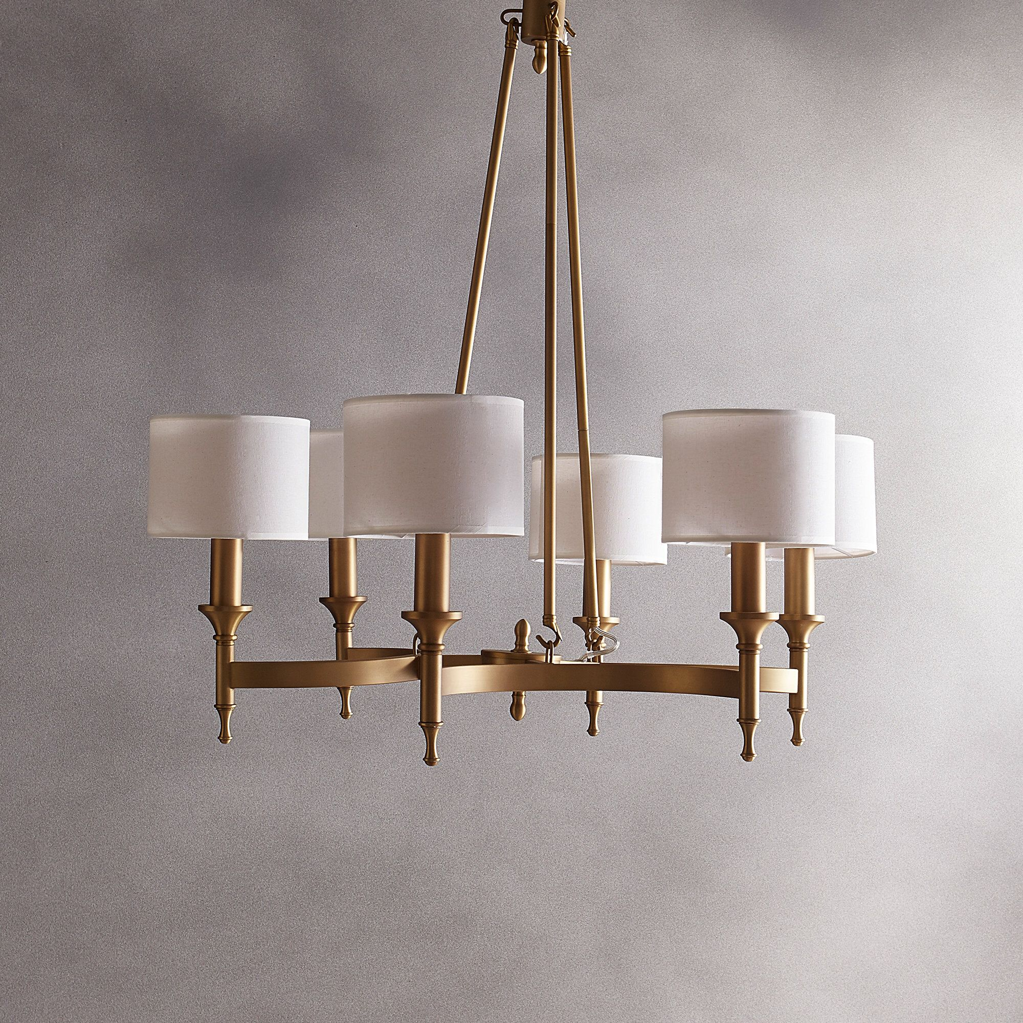 Rudolph 6 Light Shaded Chandelier Traditional Chandelier Chandelier Shades Dining Room Chandelier