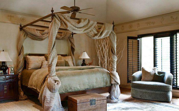 bett ideen schlafzimmerbetten himmelbett vorhang - Himmelbett Holz Fur Komfortable Und Elegante Betten Ideen