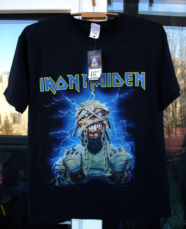 c8dd02f4e82e3a Dead Stock shirt Iron Maiden Powerslave official 2013 T-Shirt Large heavy  metal Judas Priest Saxon Metallica Guns N Roses Slayer motorhead by ...