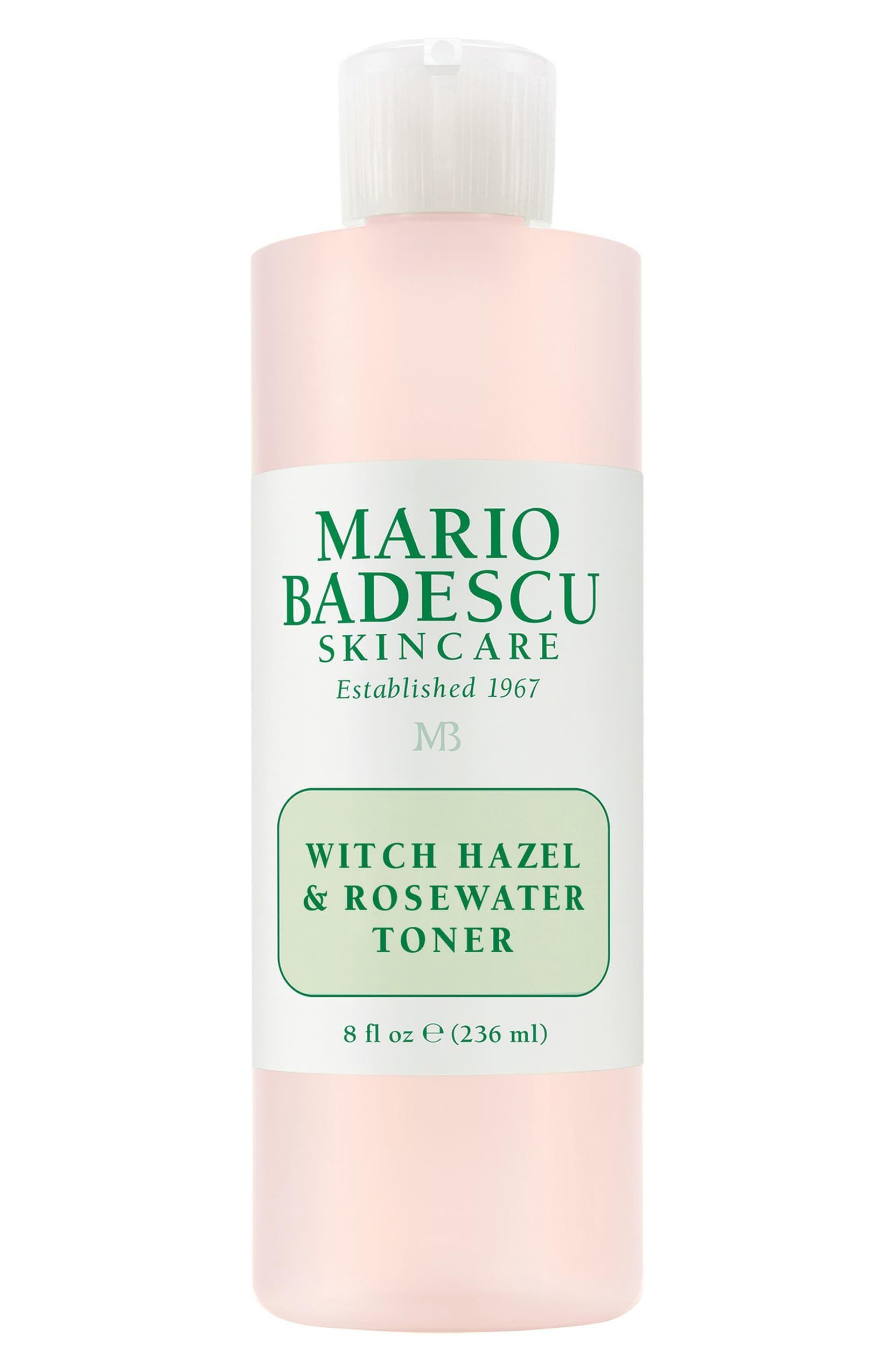 Witch Hazel Rosewater Toner In 2020 Rose Water Toner Skin Care Mario Badescu