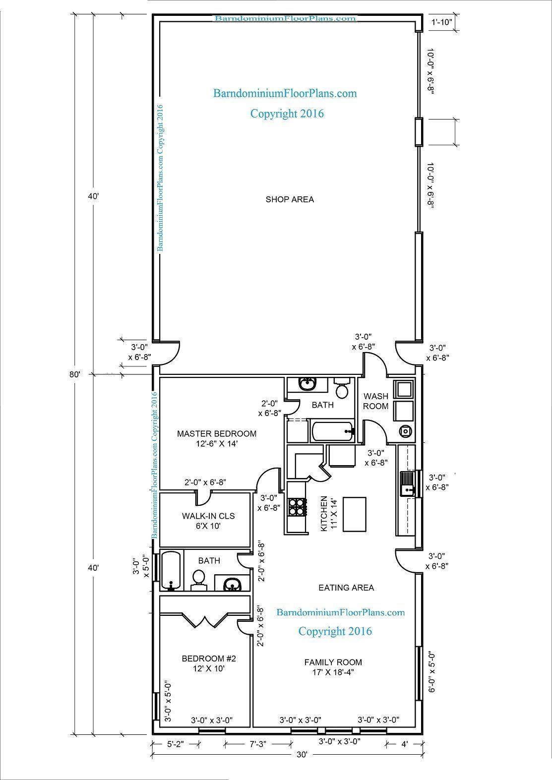 17 Elegant Tiny Barndominium Floor Plan To Look Awesome In Your Home Barndominium Floor Plans Pole Barn House Plans Metal Building House Plans