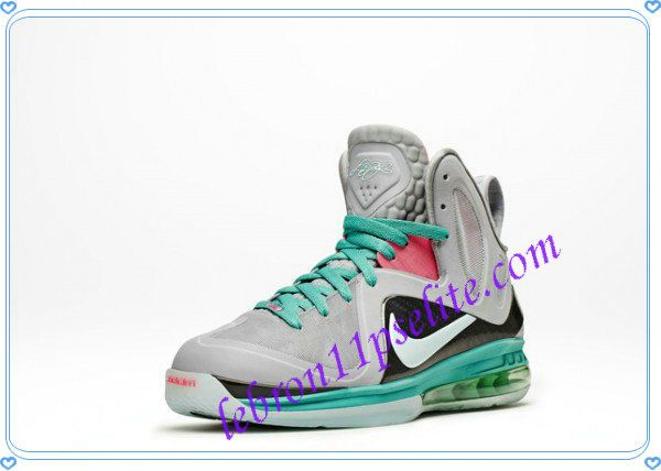 save off 1ed60 5a65e LeBron 9 P.S. Elite Nike IX Lebrons Wolf Grey Mint Candy New Green Pink  Flash 516958 001