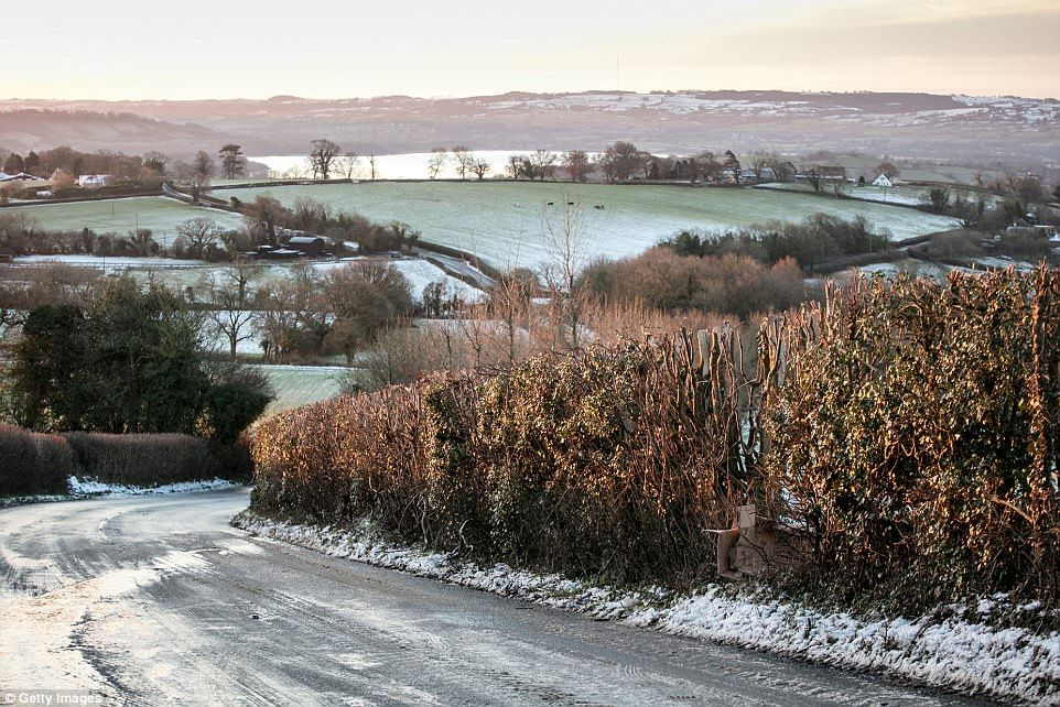 Coldest night of the year as temperatures plummet to 13C