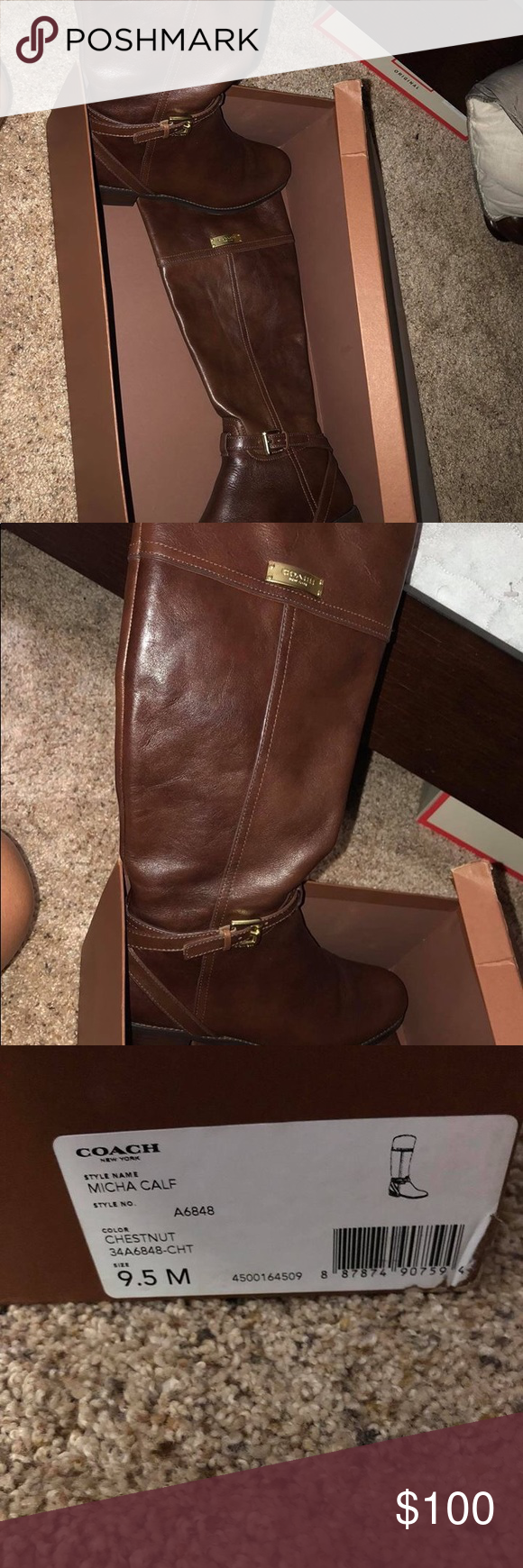69f9ce490fe Coach Riding Boots In great condition. Worn once. Coach Shoes Over the Knee  Boots