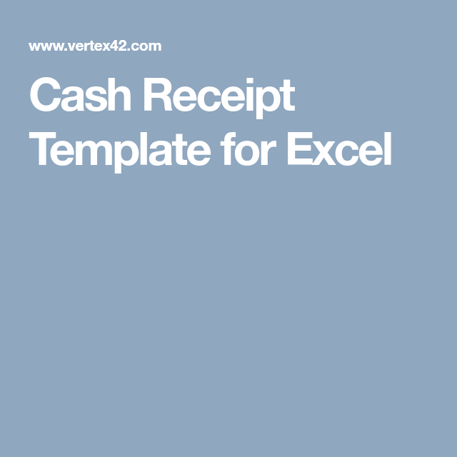 Cash Receipt Template - PDF Form to Download and Fill out | Online ...