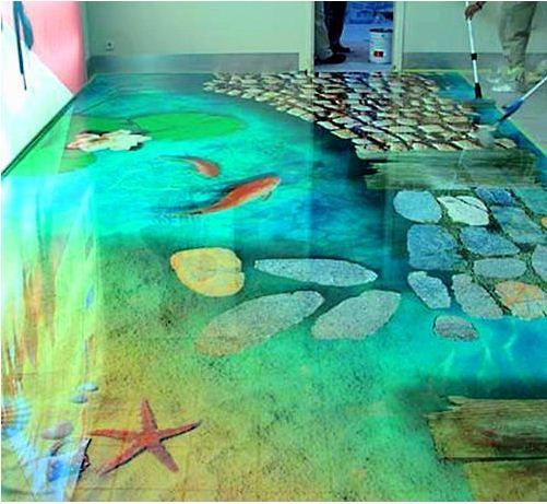 self leveling 3D flooring options 3D bathroom floor Pretty