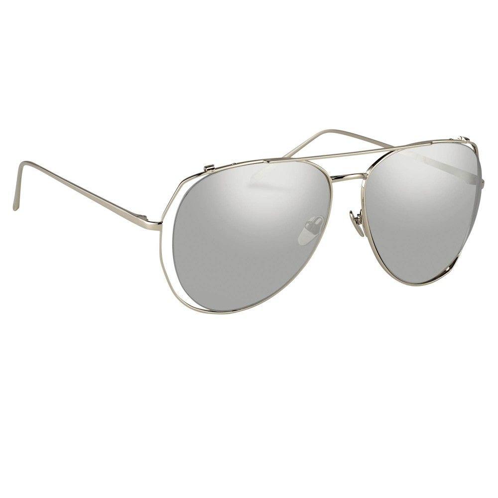 4c3833525f0 Linda Farrow 397 White Gold - Sunglasses - SHOP BY CATEGORY - Women - Linda  Farrow