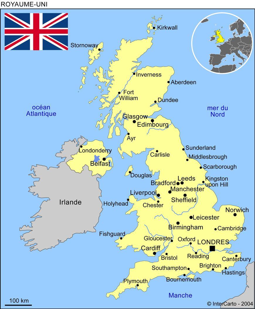 Carte Angleterre Ecosse.Carte Du Royaume Uni Ailleurs England Brittany Ferries England