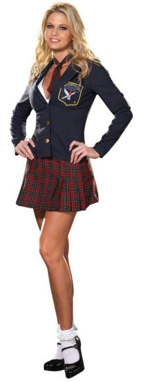 Šolski dekliški kostum - Kostumi za odrasle oblačijo ideje Seksi šola-5706