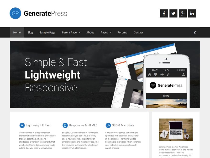 WordPress › GeneratePress « Free WordPress Themes #woocommerce ...