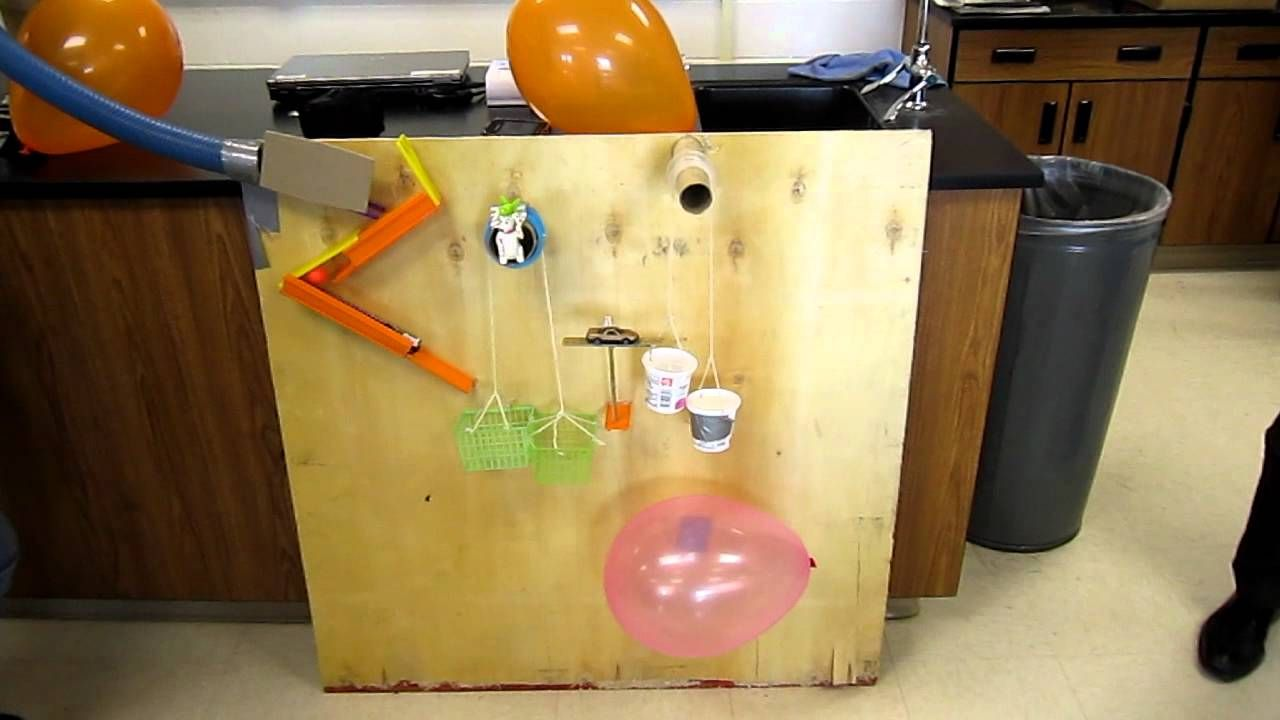 Simple machines project ideas - We Had 5 Days To Build This Machine We Had To Gather Up Junk Literally Junk And Make Ideas Of How To Build It We Had To Use The Six Simple Machines