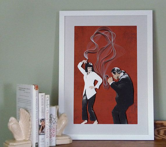 Pulp Fiction Movie Poster Quentin Tarantino Film Poster Quilling