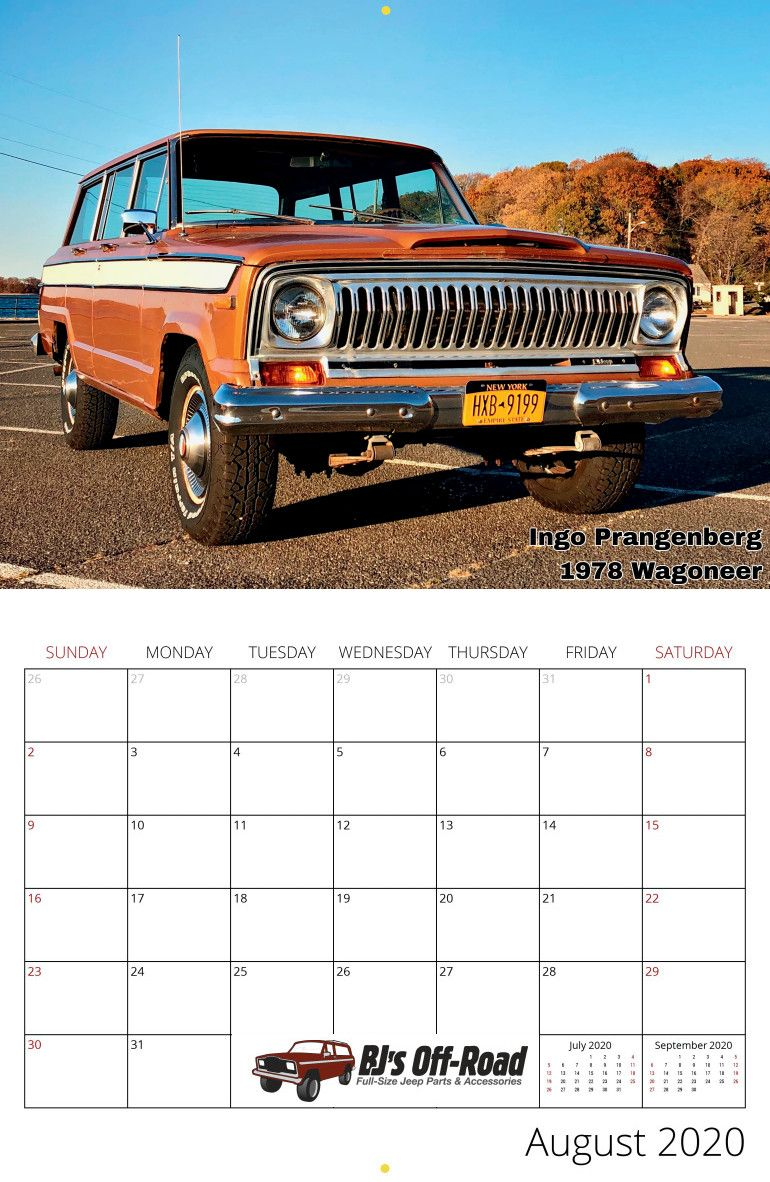 2020 Full Size Jeep Calendar In 2020 Jeep Willys Wagon Full Size