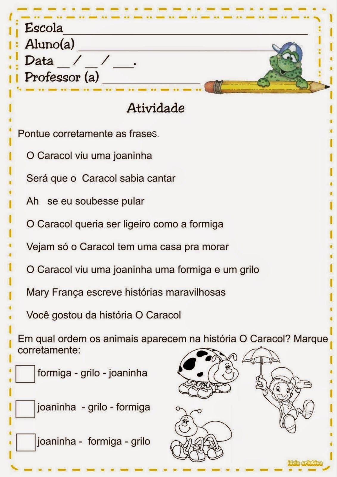 Atividades de português 2 ano fundamental pontuação | atividades ...