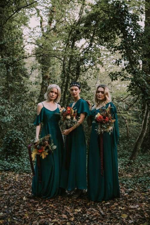 Neu geschriebene Herbst- / Winterkleider für Brautjungfern: ätherische, launische, erdige + Juwelentöne   – Bridesmaid dresses