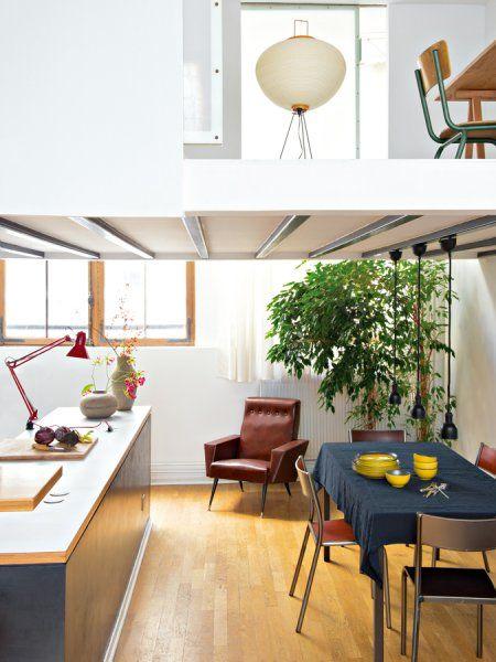 Un loft parisien aux accents américains | Lofts, Spaces and Kitchens