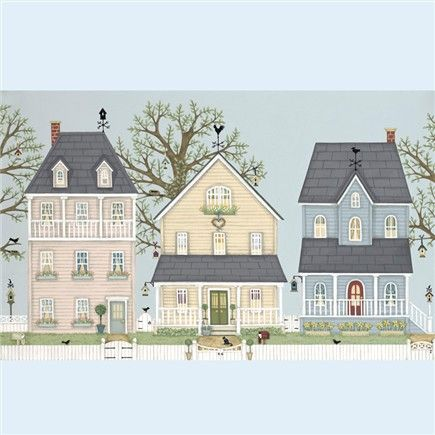 Prints & Canvasses » Spring Houses Signed Giclée Print » Spring Houses Signed Giclée Print - Sally Swannell