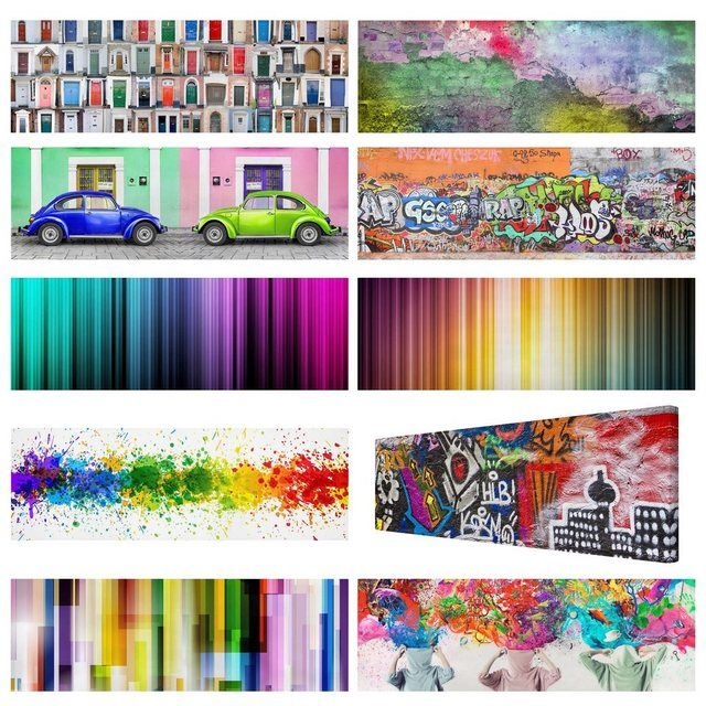 Leinwandbild Panorama »Top Farbenfrohe Leinwandbilder« #autumnnails