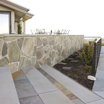 Blue Stone Steps, Natural Stone, Outdoor Fireplace, Outdoor Living, Patio,  Retaining