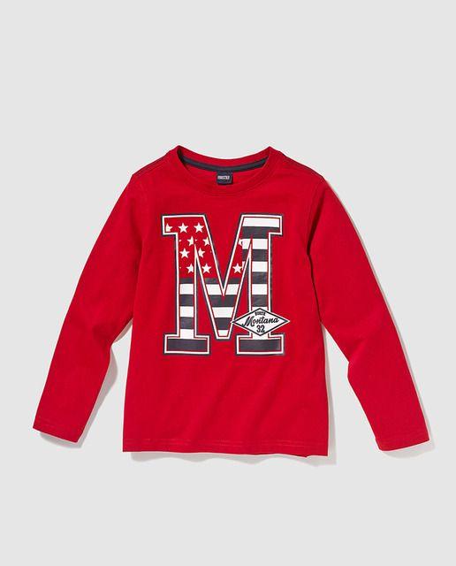 9c63881a5 Camiseta de niño Freestyle en rojo con print