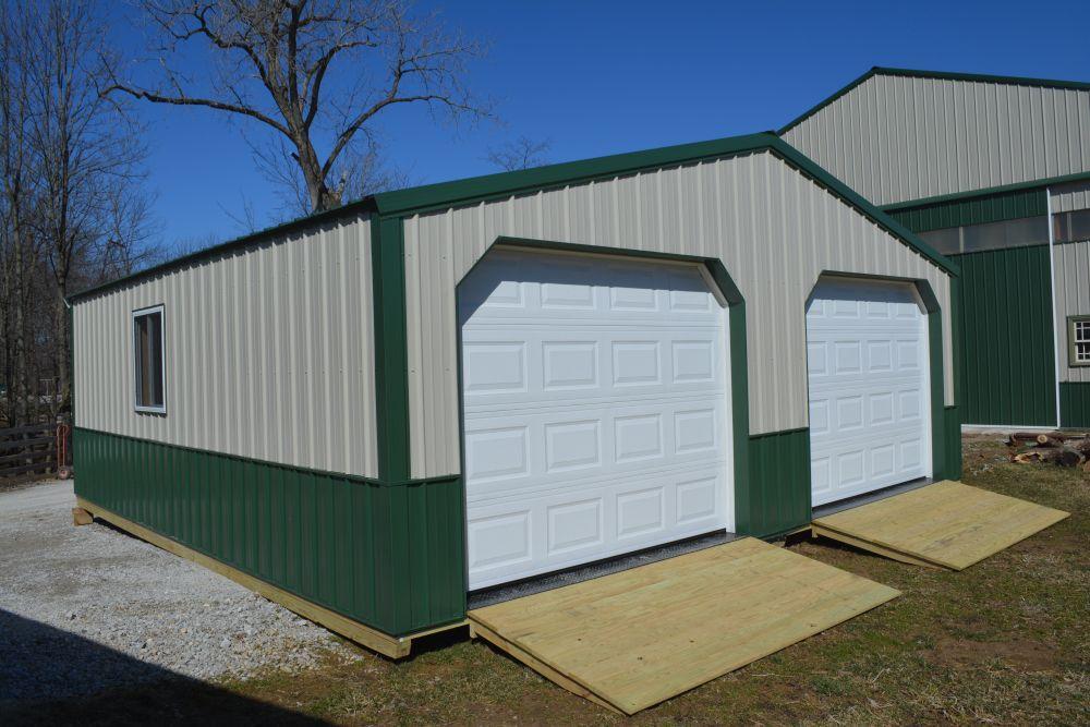 STANDARD METAL GARAGES 24 x 28 Two Car PRICE 9555