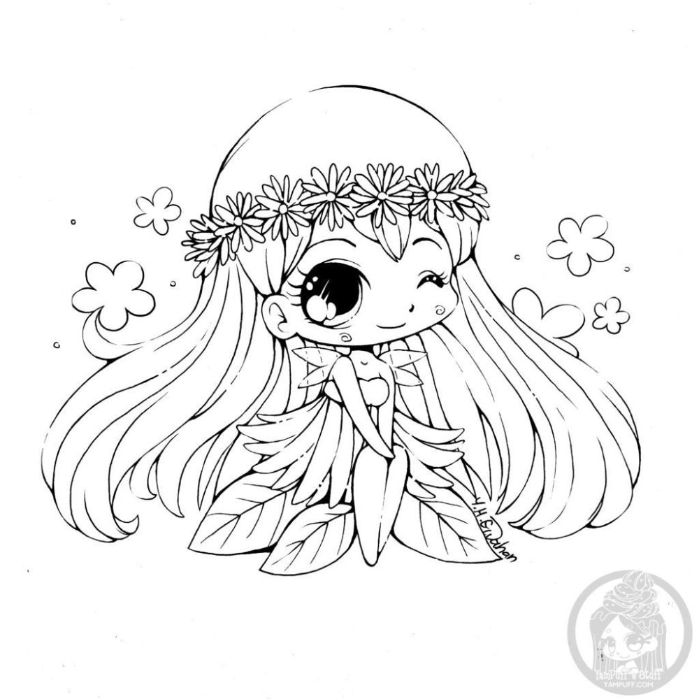 Kawaii Girl Coloring Pages In 2020 Chibi Coloring Pages Cute Coloring Pages Fairy Coloring Pages
